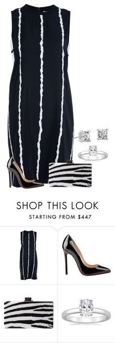 """""""Vertically striped dress"""" by andrea-barbara-raemy on Polyvore featuring Mode, 10 Crosby Derek Lam, Christian Louboutin, Edie Parker und Blue Nile"""