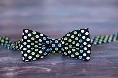 Boys Navy Blue Dot Cotton Bow Tie, bowtie for infant, toddler, and child, pretied and adjustable - pinned by pin4etsy.com