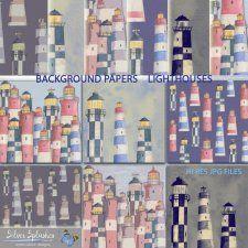 EXCLUSIVE Lighthouse Paper Watercolours by Silver Splashes #CUdigitals cudigitals.com cu commercial digital scrap #digiscrap scrapbook graphics