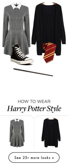 """Harry Potter costume"" by ashlync1234 on Polyvore featuring Converse #ad"