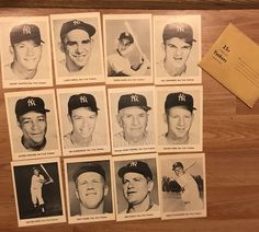 "Vintage Lot of 12 NY Yankees Team Photos Black & White 5""x7"" Mickey Mantle, Yogi #NewYorkYankees"