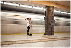 TTC subway engagement shoot