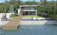lakeside minimal contemporary villa render Luxury Villa, Minimalism, Photo And Video, Contemporary, Studio, Outdoor Decor, Instagram, Home, Design