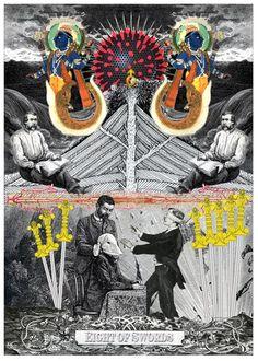 Eight of Swords - Arthur Taussig Collage Tarot