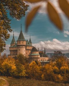 Autumn at Bojnice Castle . Waiting, The Past, Favorite Things, Castle, In This Moment, Autumn, Mansions, Landscape, World