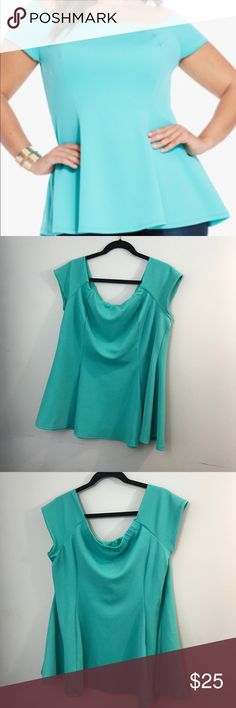Fashion To figure Teal off shoulder Top Fashion To Figure Teal off shoulder Top. Worn once. Great condition. Fashion to Figure Tops