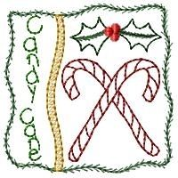 Candy Cane Square Sampler - 4x4 | Christmas | Machine Embroidery Designs | SWAKembroidery.com Homeberries Designs