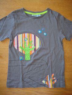 camiseta amb aplicacions arbre