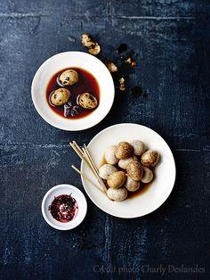Recettes d'une Chinoise: Oeufs de caille marbrés au thé noir 红茶鹌鹑蛋 hóngchá ānchun dàn