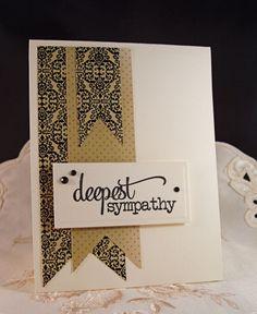 Still Another CAS Sympathy Card Paper: Porcelain Rose by Kaisercraft; Stamp: Verve Plain Jane – Deepest Sympathy; Ink: VersaFine Onyx Black; Miscellaneous: Kaisercraft Rhinestones – Black