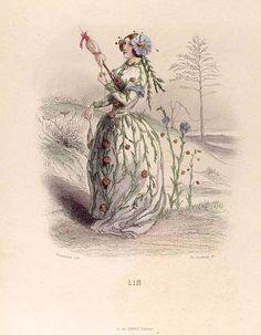 1847 Grandville, J. J.  Karr, Alphonse Delord, Taxtile