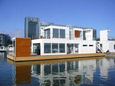 Villa Helmi is Marina Housing Ltd floating villa. Design by architects Kari Ristolainene and Timo Urala.