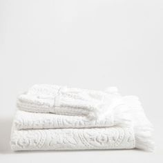 BEIGE FRINGED COTTON TOWEL - Towels & Bathrobes - Bathroom | Zara Home United States