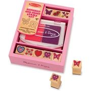 Get Melissa & Doug Small Stamp Set - Butterfly & Hearts with FREE 2-day shipping @ ShopRunner.