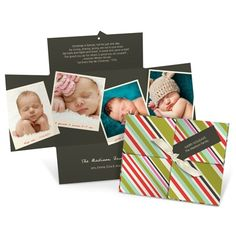 Christmas cards - Tagged and Striped
