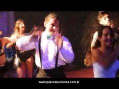 SHOW DE BAILE para Eventos , Flashmob con Robot Led Gigante www.p4produc...