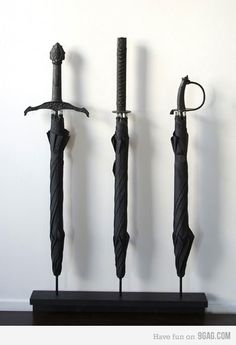 Sword umbrellas!