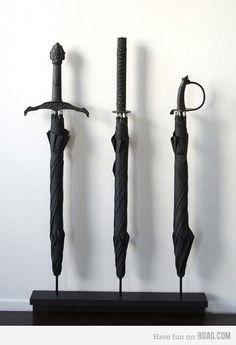Sword umbrellas!
