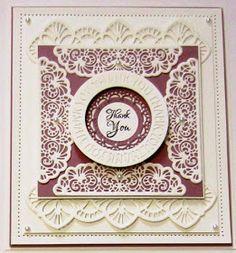 PartiCraft (Participate In Craft): Filigree Thank You Card