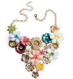 Über Chic for Cheap: Spied: Flower Statement Necklace
