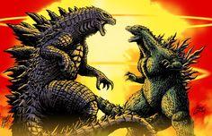 Godzilla vs Godzilla by Matt Frank and MASH by KaijuSamurai on DeviantArt