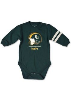 "Is your future Bear ready for fall? // ""Future #Baylor Quarterback"" onesie, $13.99 from the Baylor Bookstore"