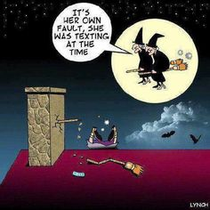 Funny Modern Day Witch Cartoon – | The Comedy Of Life - Funny Photos, Cartoons & Jokes