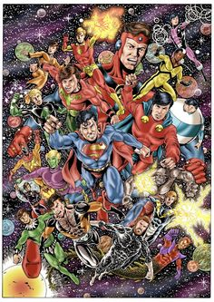 Guys of Legion of Super-Heroes by Alex Garcia