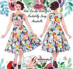 Robe Pin-Up Rétro 50s Rockabilly Swing Annabella Floral  http://www.belldandy.fr/robe-pin-up-retro-50-s-rockabilly-swing-annabella-floral.html https://www.facebook.com/belldandy.fr/photos/a.338099729399.185032.327001919399/10154829646564400/?type=3
