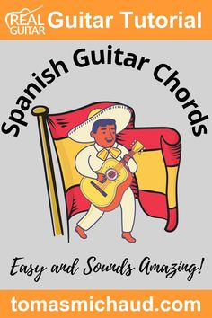 In this guitar lesson, you are going to learn a Spanish style chord progression. This chord progression is so common in Flamenco music that it has its own name, The Andalusian Cadence. The Spanish guitar chord progression can be played in any key, but I'll teach you in the key of Dm. The main chord progression only 4 chords, but it's the order of the chords that give this progression a beautiful sound. I will also show you a fingerpicking pattern and Flamenco strum pattern. Play Guitar Chords, Learn Acoustic Guitar, Learn To Play Guitar, Flamenco Guitar Lessons, Guitar Chord Progressions, Guitar Online, Guitar Lessons For Beginners, Guitar Tutorial, How Its Going