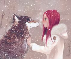 Girl and the Wolf by ~Medlih on deviantART    Mia and Wulfe in the Northlands