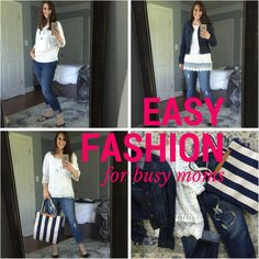 Easy Fashion for Busy Moms via lisajobaker.com