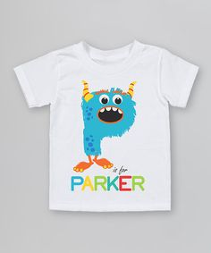 Take a look at this White 'P is For' Organic Personalized Tee - Infant, Toddler & Kids by Morado Designs on #zulily today!