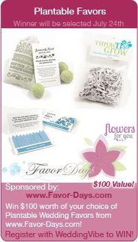 wedding contests - Win plantable favors in this wedding giveaway!