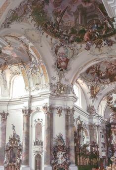Ottobeuren Abbey, founded rokoko/baroque Architecture Antique, Beautiful Architecture, Beautiful Buildings, Art And Architecture, Beautiful Places, Classical Architecture, Amazing Places, Aesthetic Art, Makeup Aesthetic