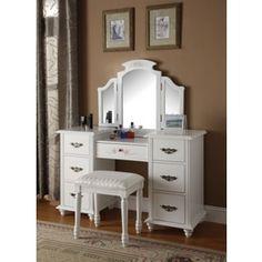 wooden vanities for teens | Make Up Dressing Tables