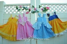 disney sundresses | YOU CHOOSE ONE Princess Gown Dress Sundress Halter Disney You choose ...
