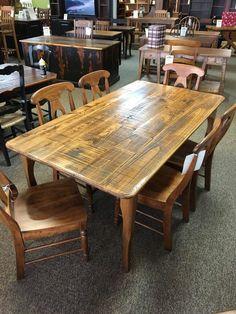 Rough Sawn New Cypress French Leg Table In Coffee W