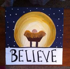 canvas painting ideas for christmas