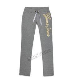 """$26 Guess Sweatpants """"Allyson"""" Bootcut Pants Gray"""