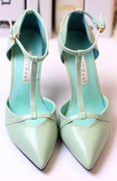 Pointed Toe High Heels T straps