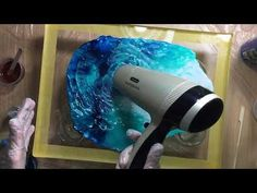 How To Apply GLITTER VEINING to Fluid Art FLIP CUP DIRTY SLIDE acrylic pouring - YouTube Acrylic Pouring, Hair Dryer, Dryer, Hair Diffuser