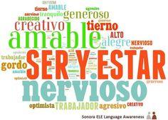 Adjetivos que pueden usarse con SER y con ESTAR.