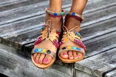 Sandals Popsicle handmade to order by ElinaLinardaki on Etsy
