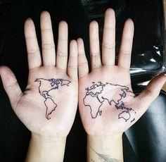 Map Tattoo on Hand by Lee Kiev
