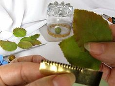 Мастер-класс по изготовлению универсального каттера для листьев с зубчатыми краями. Применение его для лепки листьев из холодного фарфора. Первый мастер-класс по изготовлению заготовок для каттеров смотрите здесь >> Материаллы и инструменты:1. Жесть.2. Ножницы.3. Линейка.4. Полимерная глина (любая).5. Стеки.6. Роллер.7. Шило.8. Картон.9. Мастихин (при наличии).10. Марля.11. Файл.12. Стакан.
