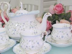 "English bone china, Royal Albert ""Colleen"": my pattern"