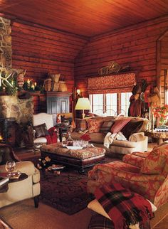 Great Camps of the Adirondack's - traditional - living room - new york - Steed Hale Interior Design Company & Inc.