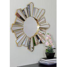 Sunburst Wall Decor, Sunburst Mirror, Mirror Decor Living Room, Home Decor Mirrors, Bedroom Decor, Mirror Wall Clock, Round Wall Mirror, Mirror Mirror, Mirror Inspiration