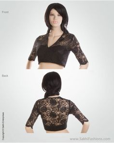 Classic Black lace designer blouse creating a stunning designer effect. I know what i want to do next.